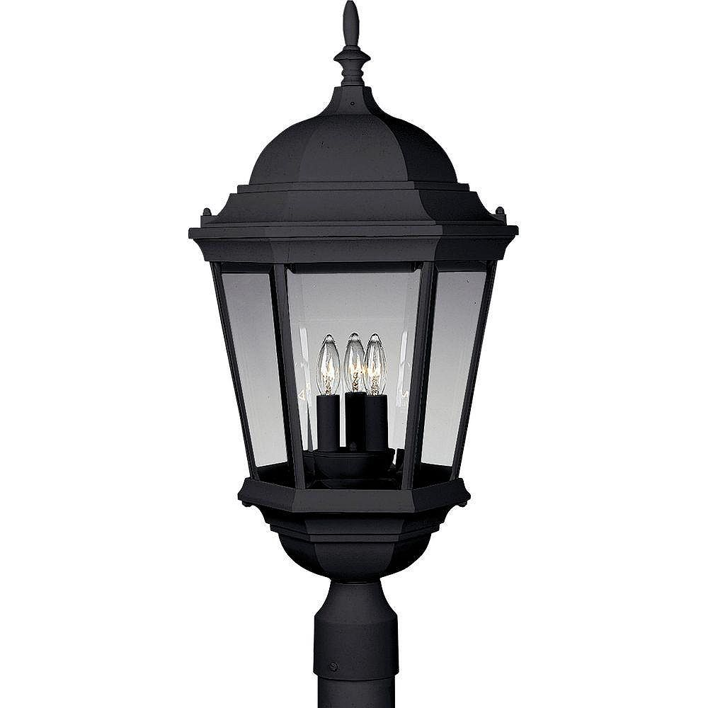 Progress Lighting Lampadaire à 3 Lumières, Collection Welbourne - fini Noir Texturé