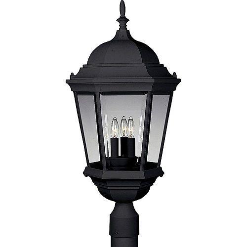 Lampadaire à 3 Lumières, Collection Welbourne - fini Noir Texturé
