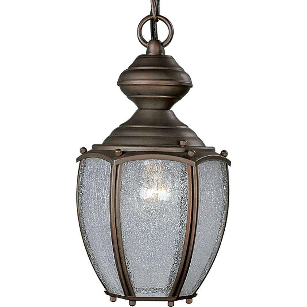 Progress Lighting Lanterne suspendue à 1 Lumière, Collection Roman Coach - fini Fini Bronze Romain