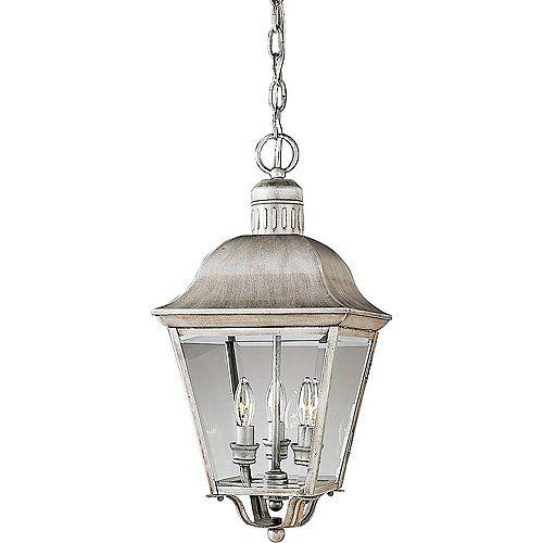 Progress Lighting Lanterne suspendue à 3 Lumières, Collection Andover - fini Gris Argenté
