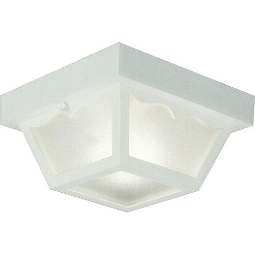 Plafonnier extérieur à 1 Lumière - fini Blanc