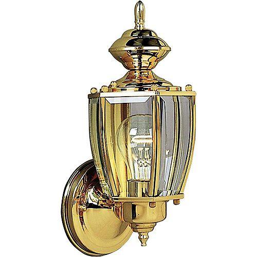 Progress Lighting Lanterne murale à 1 Lumière, Collection BrassGUARD - fini Laiton Poli