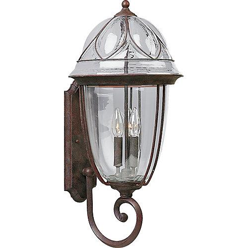 Verona Collection Cobblestone 3-light Wall Lantern