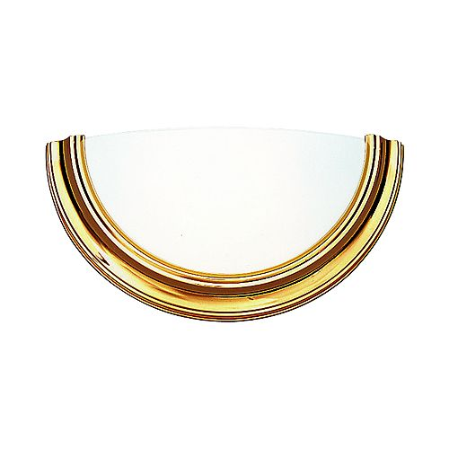 Eclipse Collection Polished Brass 1-light Wall Sconce