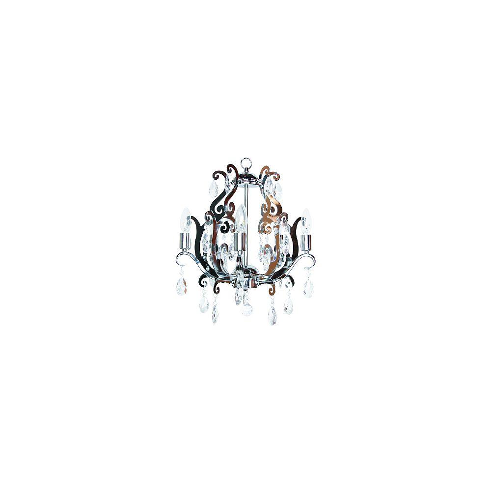 Titus Manufacturing Lustre Chantal, fini chrome, cristal de lucite