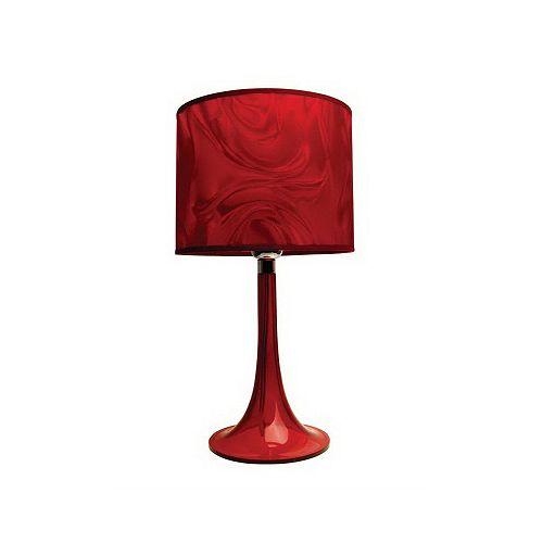 Lampe de table Moda en lucite, rouge rubis