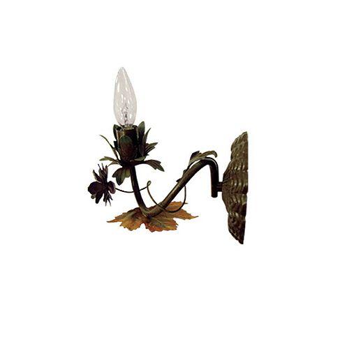 Applique Muskota, une ampoule, 60W, avec motifs de branches et de feuillages