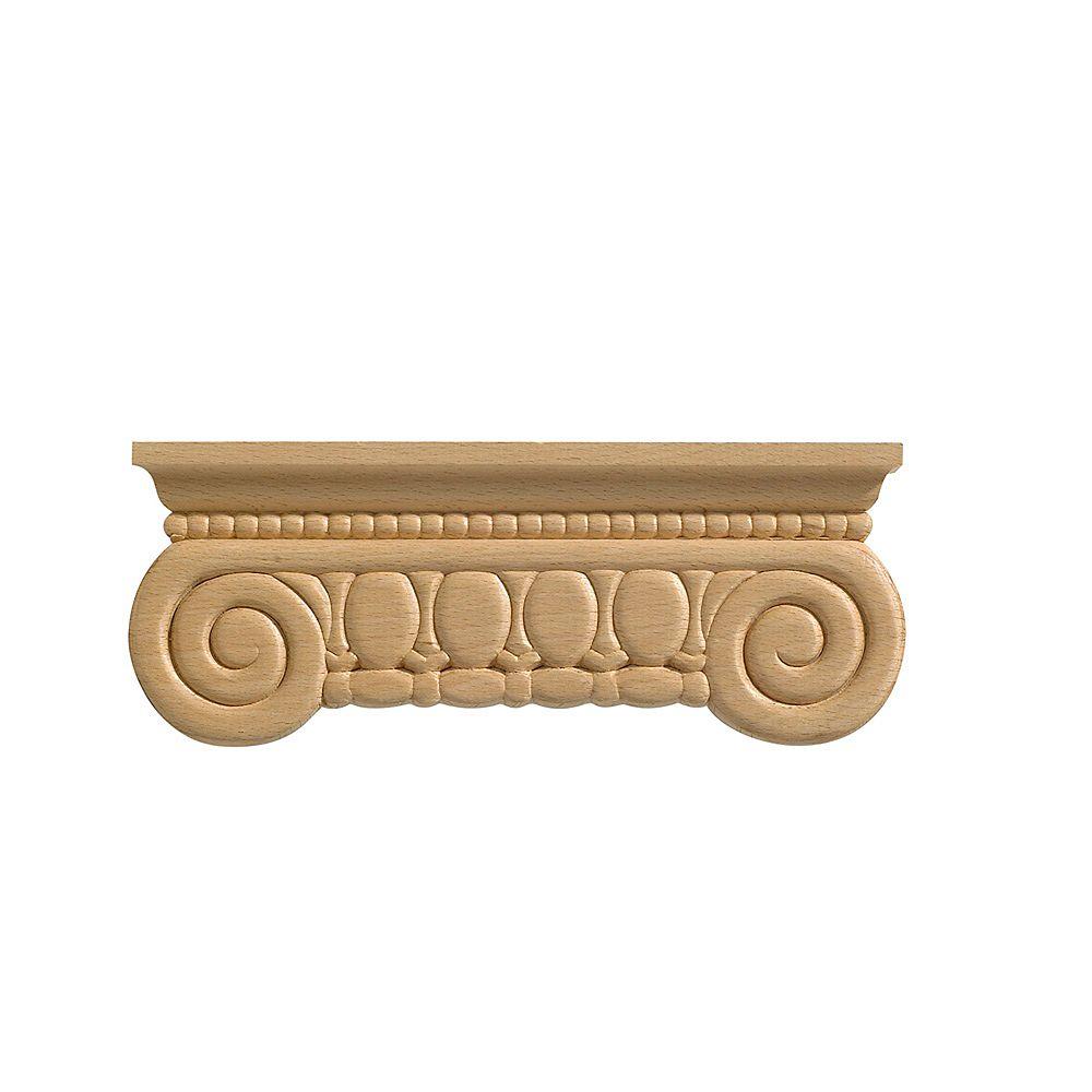 Ornamental Mouldings Chapiteau de pilastre 8 po