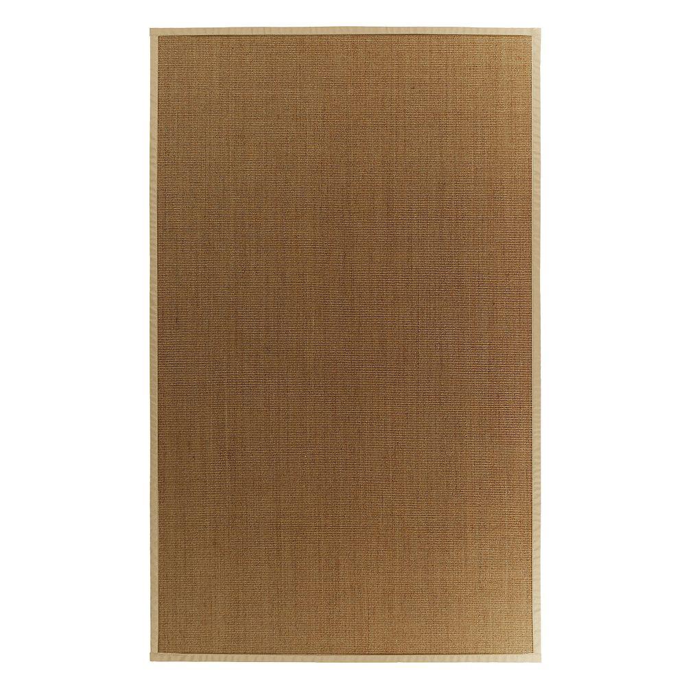 Lanart Rug Carpette d'intérieur, 8 pi. x 10 pi. tissage texturé, rectangulaire, sisal naturel, beige