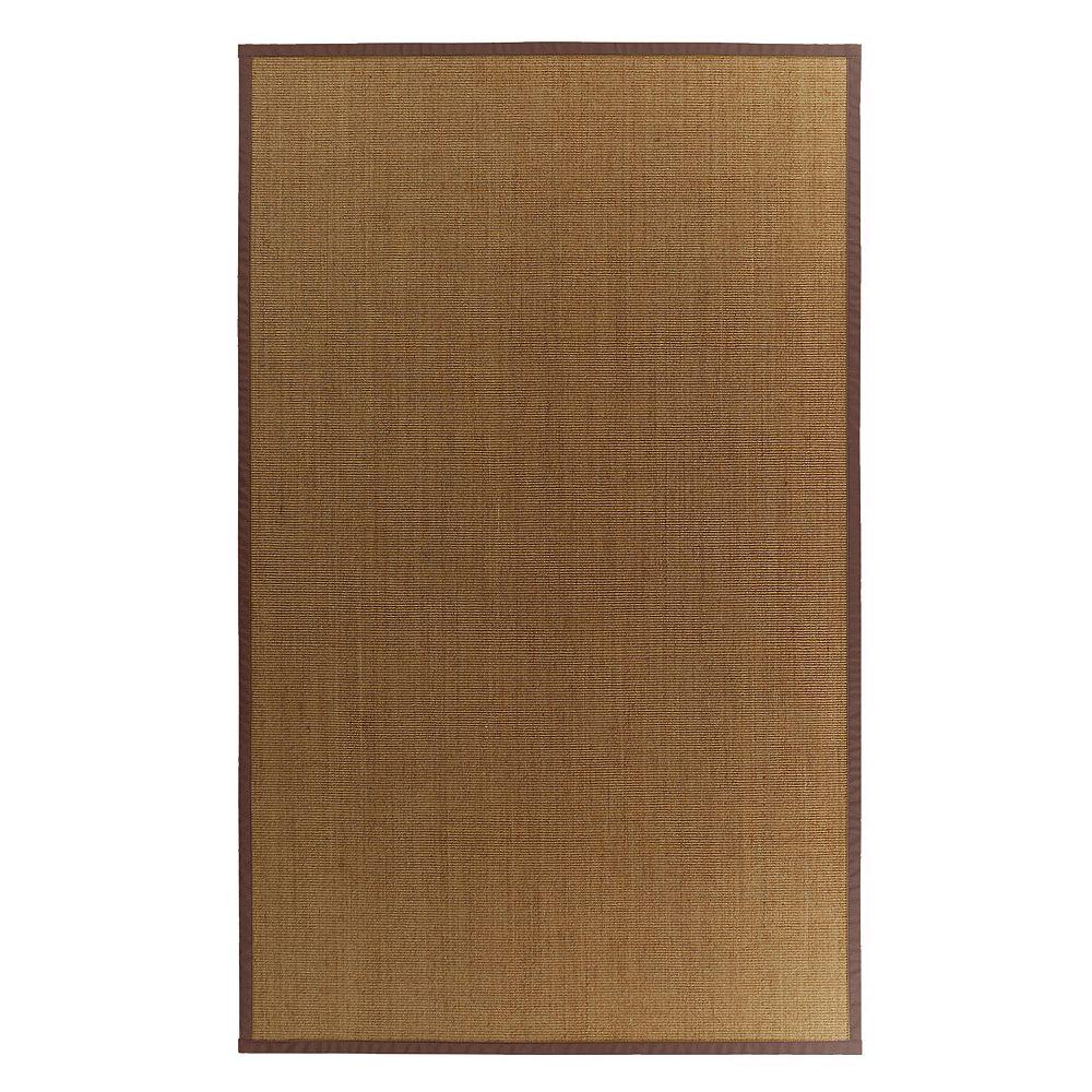 Lanart Rug Natural Sisal Brown 8 ft.  x 10 ft. Indoor Textured Rectangular Area Rug