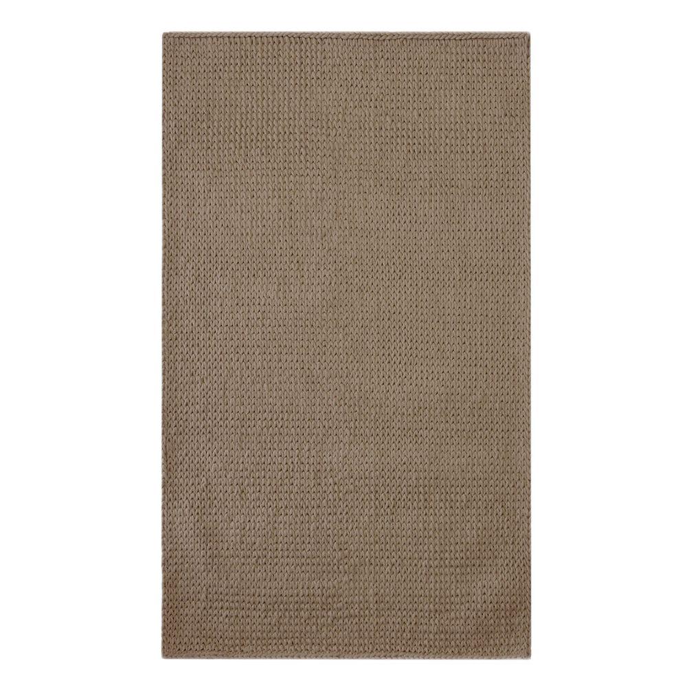 Lanart Rug Carpette d'intérieur, 9 pi x 10 pi, tissage texturé, rectangulaire, brun Cardigan