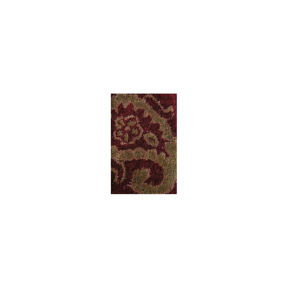 Lanart Rug Carpette d'intérieur, 5 pi x 7 pi 6 po, style traditionnel, rectangulaire, rouge Florence