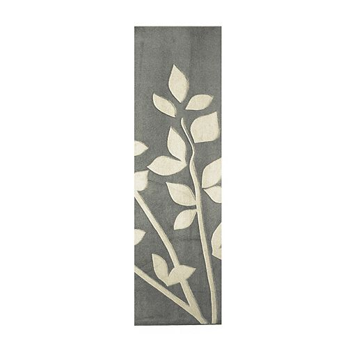 Lanart Rug Clay Grey 2 ft. x 8 ft. Indoor Contemporary Rectangular Area Rug