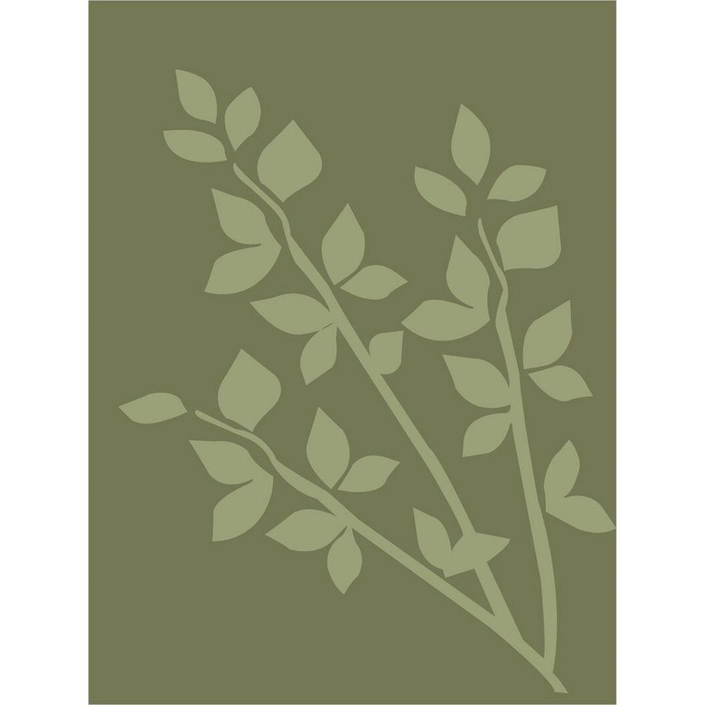 Lanart Rug Carpette d'intérieur, 4 pi x 6 pi, style contemporain, rectangulaire, vert Gardenia