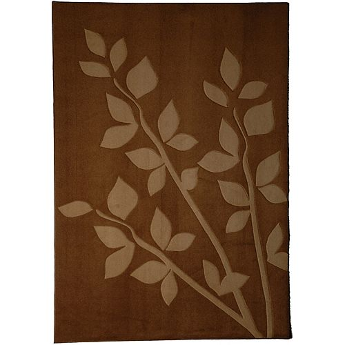 Lanart Rug Gardenia Brown 4 ft. x 6 ft. Indoor Contemporary Rectangular Area Rug