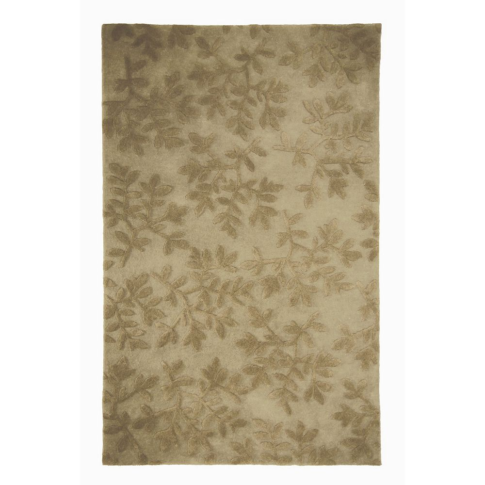 Lanart Rug Vineyard Beige Tan 5 ft. x 8 ft. Indoor Contemporary Rectangular Area Rug