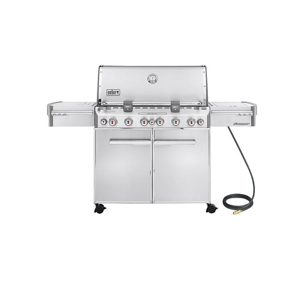 Weber Summit S-670 6-Burner Natural Gas Grill in Stainless Steel 7470001