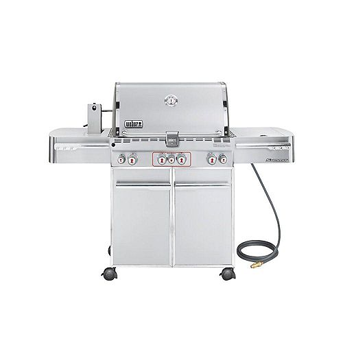 Summit S-470 4-Burner Natural Gas BBQ in Stainless Steel