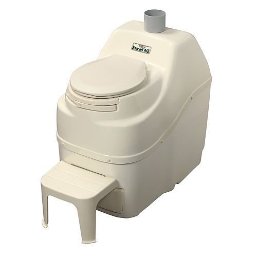 Excel Non-Electric Composting Toilet in Bone
