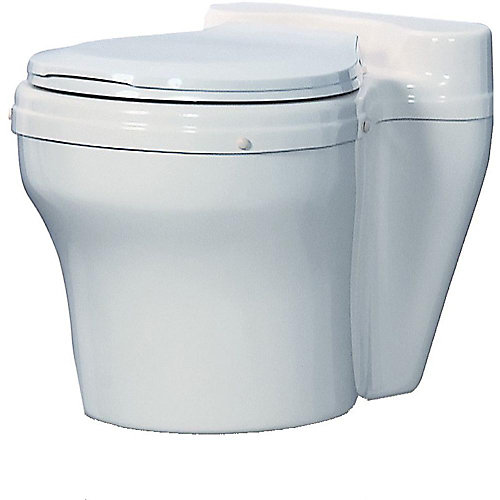 Dry Composting Toilet in white