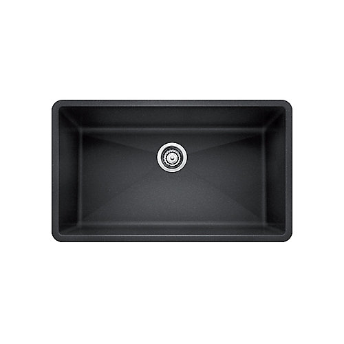 PRECIS U SUPER SINGLE, Large Single Bowl Undermount Kitchen Sink, SILGRANIT Anthracite