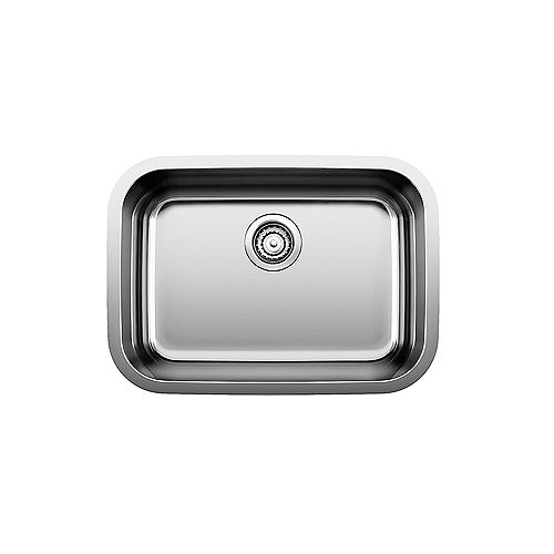 Blanco ESSENTIAL U 1 Stainless Steel Single Bowl Undermount Kitchen Sink