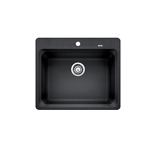 VISION 1, Single Bowl Drop-in Kitchen Sink, SILGRANIT Anthracite