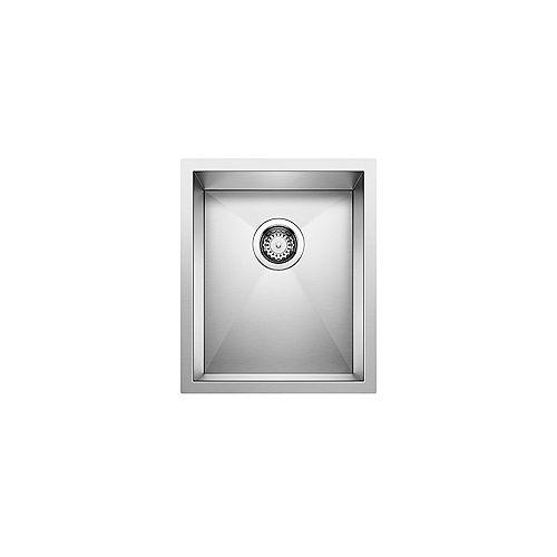 PRECISION U .75, Single Bowl Undermount Sink, Premium Stainless Steel