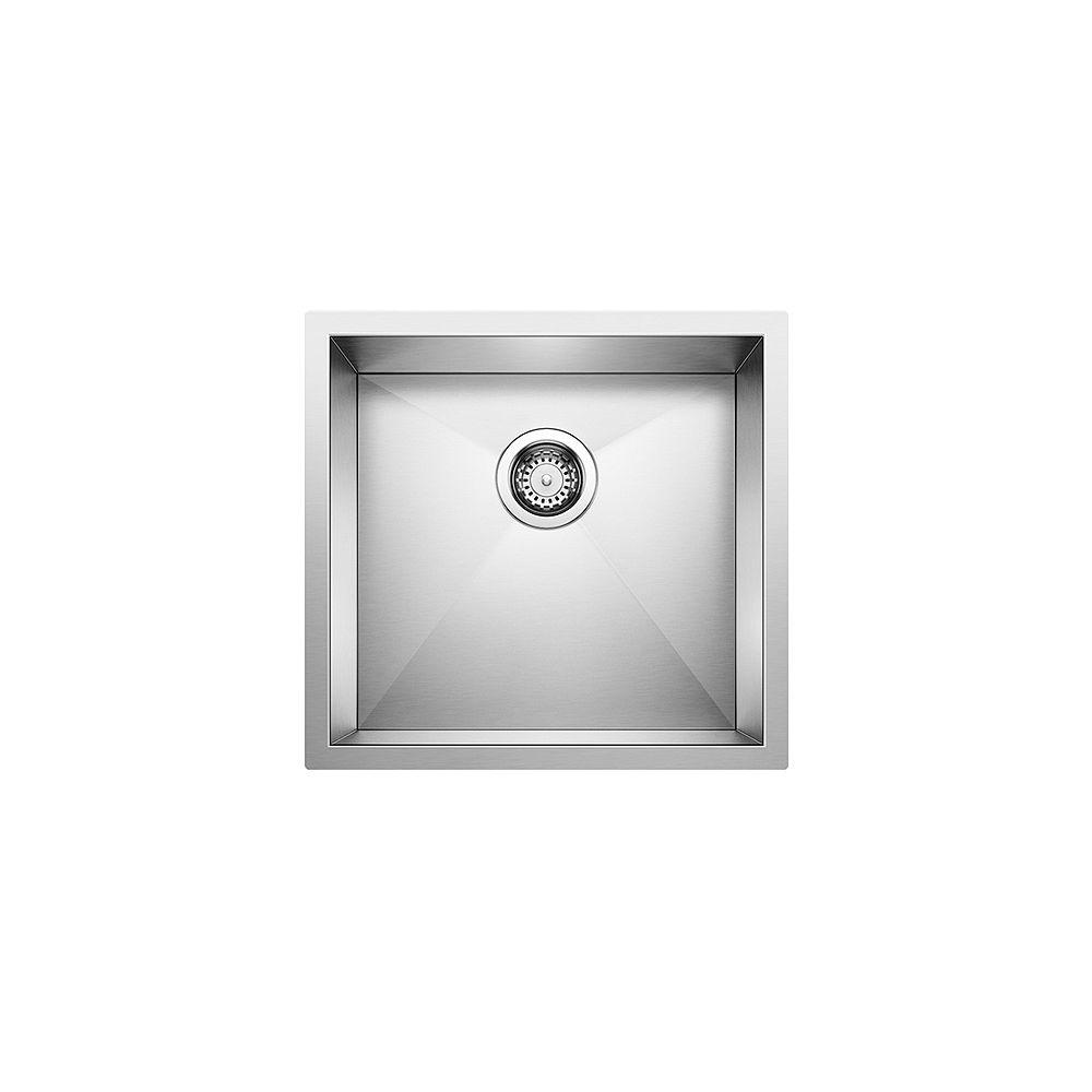 Blanco PRECISION U 1, Single Bowl Undermount Kitchen Sink, Premium Stainless Steel