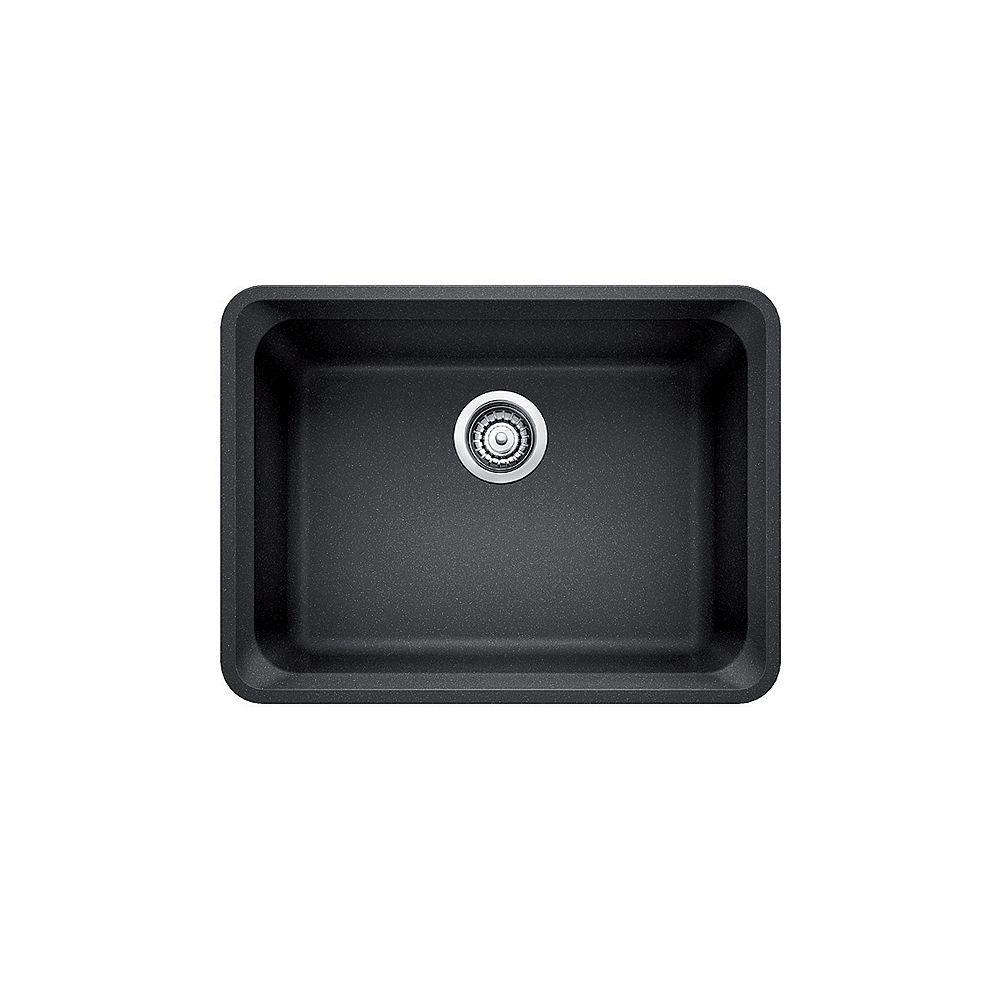 Blanco VISION U 1, Single Bowl Undermount Kitchen Sink, SILGRANIT Anthracite