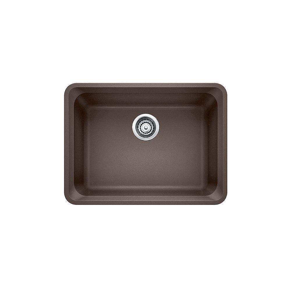 Blanco VISION U 1, Single Bowl Undermount Kitchen Sink, SILGRANIT Café