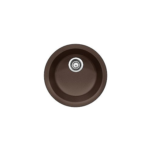 BLANCORONDO, Round Single Bowl Drop-in Kitchen Sink, SILGRANIT Café