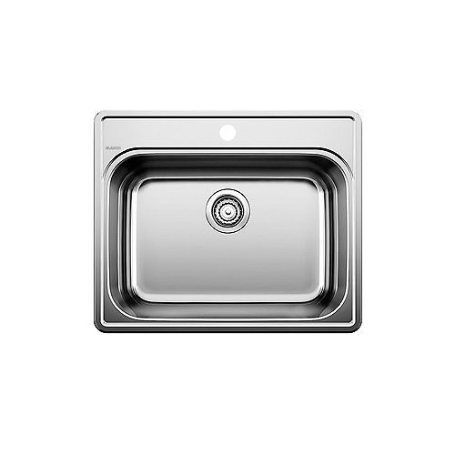 ESSENTIAL 1 Stainless Steel 1-Hole Drop-in Kitchen Sink