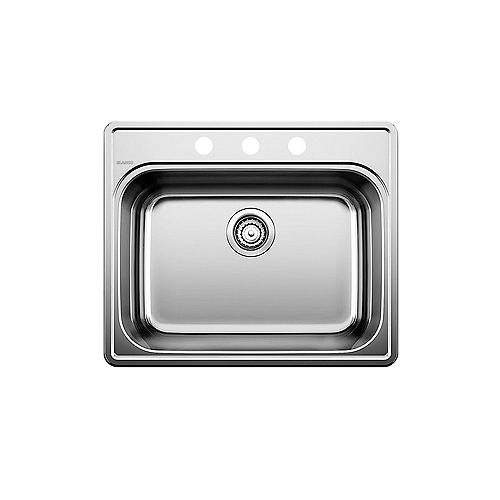 ESSENTIAL 1, Drop-in Kitchen Sink (3 Hole), Stainless Steel