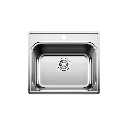 Stainless Steel top mount Laundry Sink, Single Bowl, 1-Hole