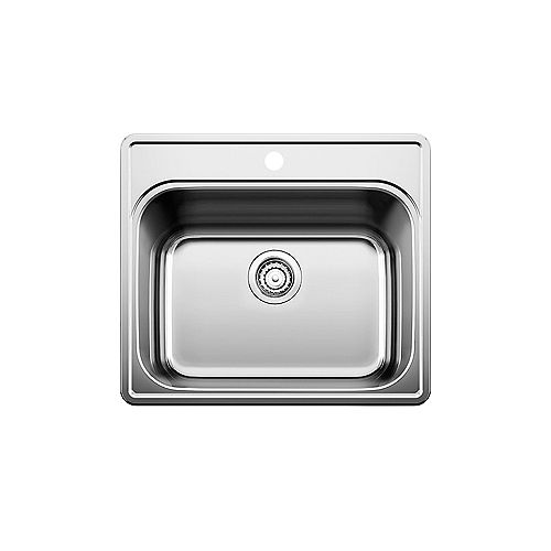 ESSENTIAL LAUNDRY, Single Bowl Drop-in Sink (1 Hole), Stainless Steel
