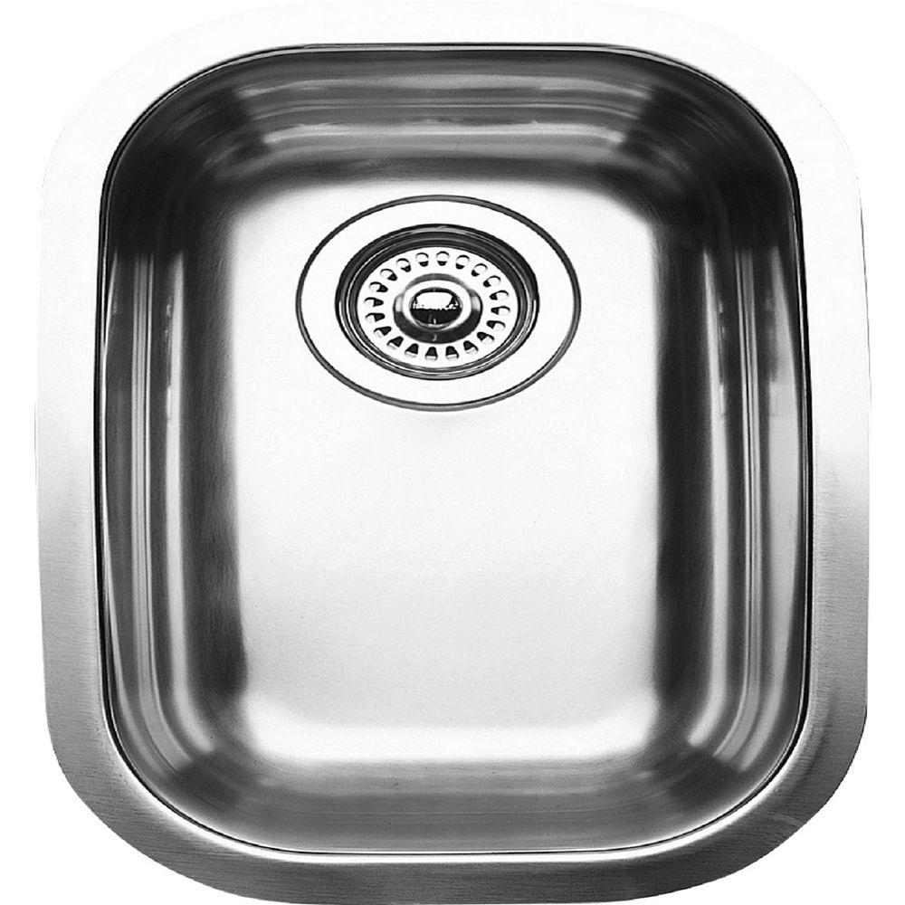 Blanco Évier de cuisine en acier inoxydable, 1/2 cuve, montage sous plan