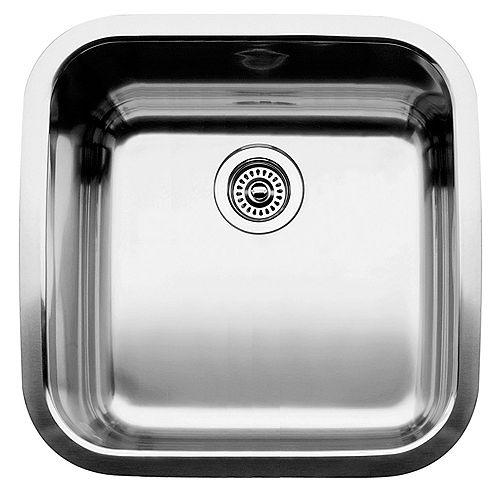 Blanco Super Supreme U 1 Single Bowl Undermount Kitchen Sink, Stainless Steel