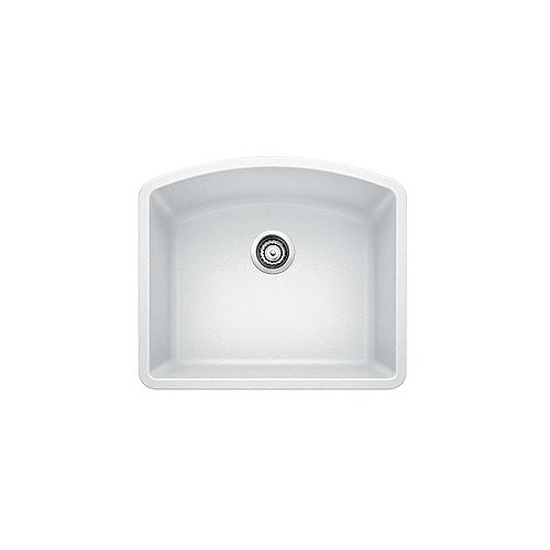 DIAMOND U 1, Single Bowl Undermount Kitchen Sink, SILGRANIT White