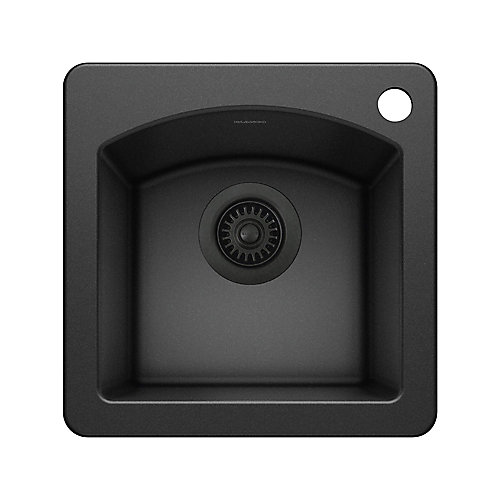 DIAMOND MINI, Single Bowl Drop-in Bar/Preparation Sink, SILGRANIT Anthracite