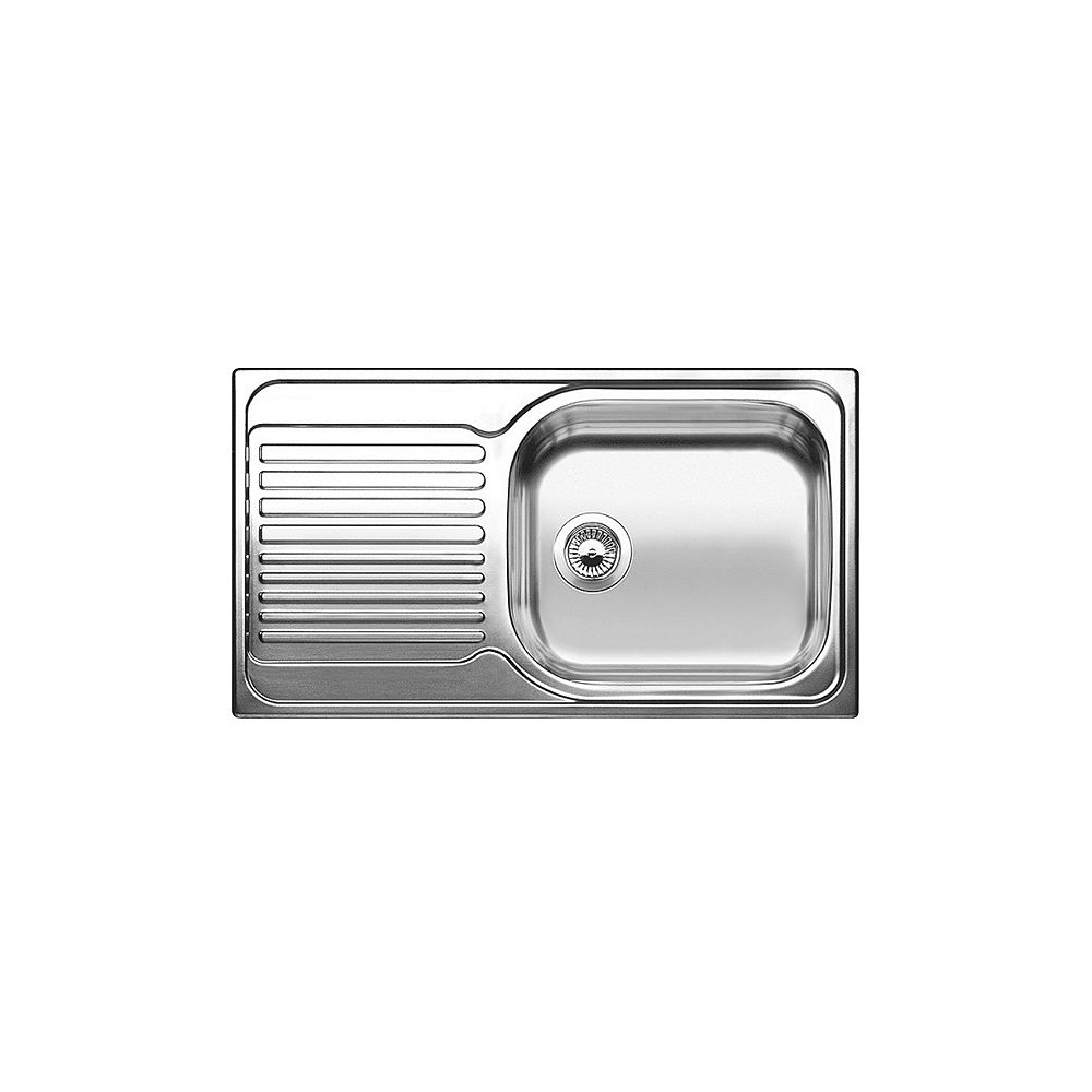Blanco Drop In Single Bowl Stainless Steel Kitchen Sink With Drainboard Rh Bowl The Home Depot Canada