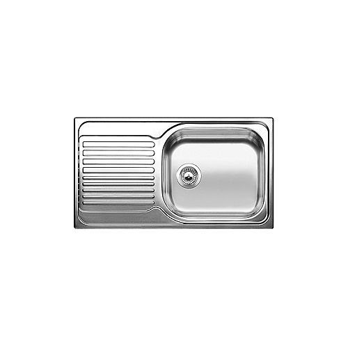 Drop-in-Single Bowl Stainless Steel Kitchen Sink with Drainboard (RH Bowl)
