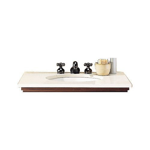Brook Console Table for Ovalyn Sink with Laminate Marble Top