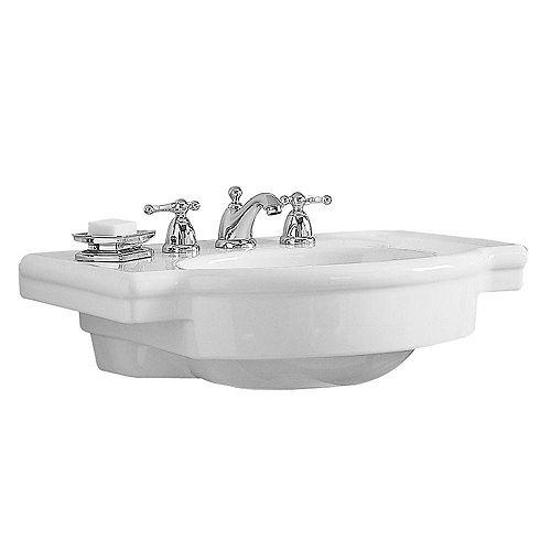 American Standard Rétrospective du bassin de l'évier à piédestal de 27 pouces en blanc