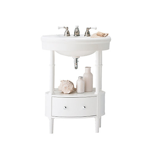 Table de toilette, Collection Standard, blanc