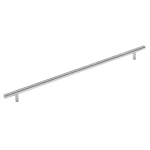 Amerock Bar Pulls 16-3/8 Inch (416mm) CTC Pull - Stainless Steel