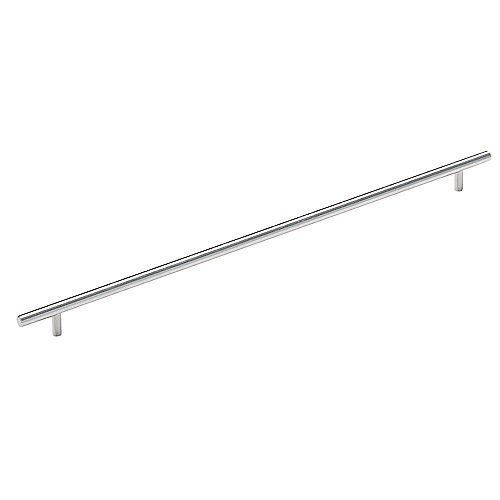 Amerock Bar Pulls 18-7/8 Inch (480mm) CTC Pull - Stainless Steel