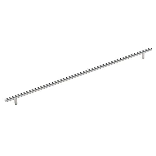 Amerock Bar Pulls 21-7/16 Inch (544mm) CTC Pull - Stainless Steel
