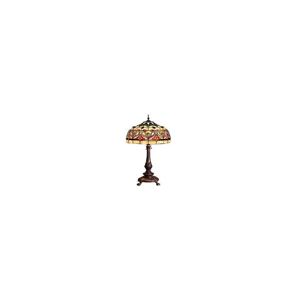 Home Decorators Collection Lampe de table Kaleidoscope Oyster Bay, moyenne, rouge/jaune