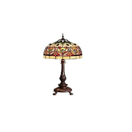 Lampe de table Kaleidoscope Oyster Bay, moyenne, rouge/jaune